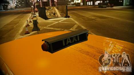 Ford Crown Victoria L.C.C Taxi для GTA 4 вид справа