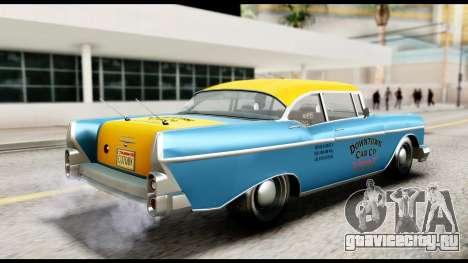 GTA 5 Declasse Cabbie v2 IVF для GTA San Andreas вид сзади слева