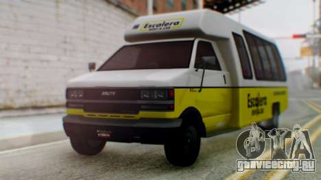 GTA 5 Rental Shuttle Bus Escalera Livery для GTA San Andreas