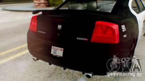 New Police SF для GTA San Andreas вид сзади