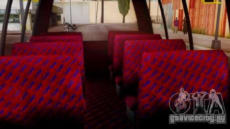 GTA 5 Rental Shuttle Bus Touchdown Livery для GTA San Andreas вид сзади