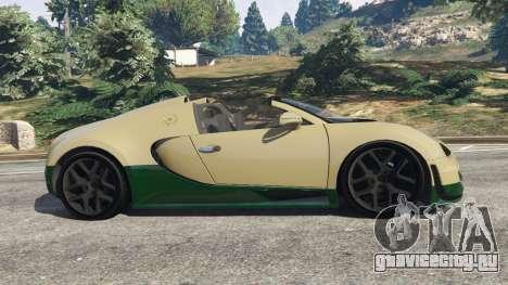 Bugatti Veyron Grand Sport Vitesse для GTA 5 вид слева