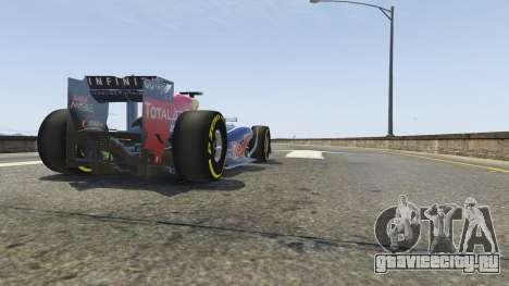 Red Bull F1 v2 redux для GTA 5 вид сзади справа