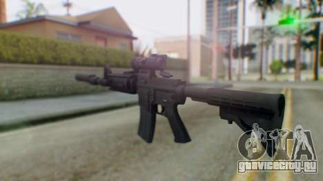 Arma Armed Assault M4A1 Aimpoint Silenced для GTA San Andreas второй скриншот