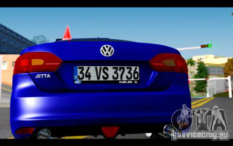 Volkswagen Jetta для GTA San Andreas вид изнутри