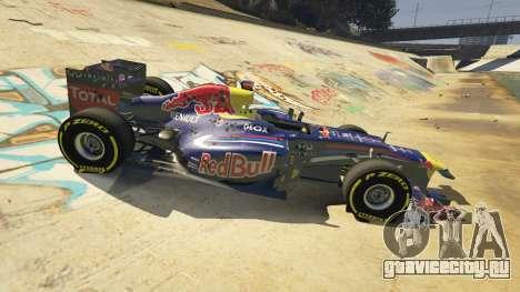 Red Bull F1 v2 redux для GTA 5 вид спереди справа