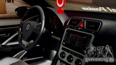 Volkswagen Scirocco R Army Edition для GTA San Andreas вид справа