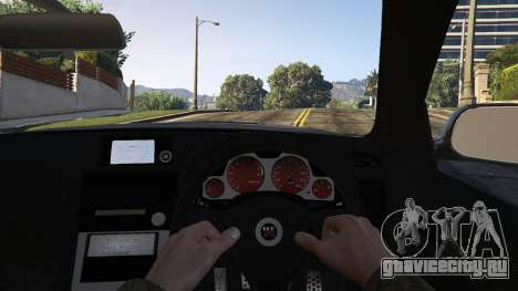 Nissan Skyline GTR R34 для GTA 5 вид сзади