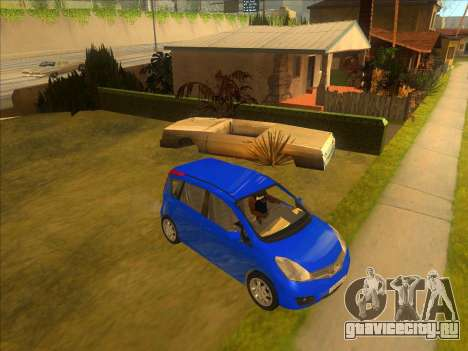 Nissan Note v0.5 Beta для GTA San Andreas вид сзади