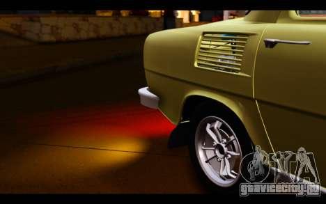Skoda 100 для GTA San Andreas вид сбоку