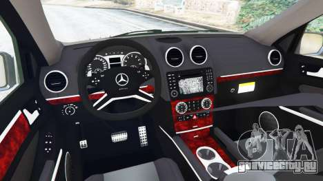 Mercedes-Benz ML63 (W164) 2009 для GTA 5 вид сзади справа