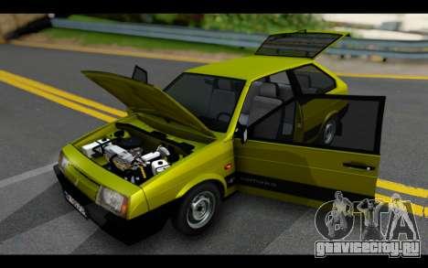 Lada Samara для GTA San Andreas вид изнутри