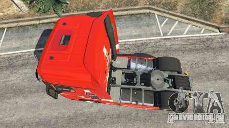 Mercedes-Benz Actros Euro 6 [Coca-Cola] для GTA 5 вид сзади