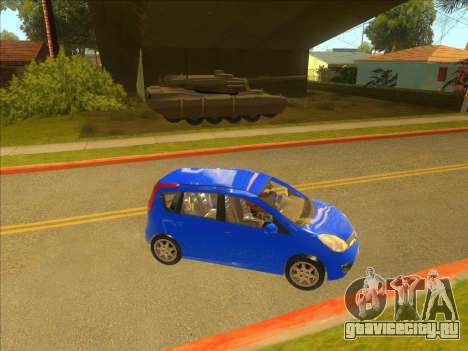 Nissan Note v0.5 Beta для GTA San Andreas вид справа