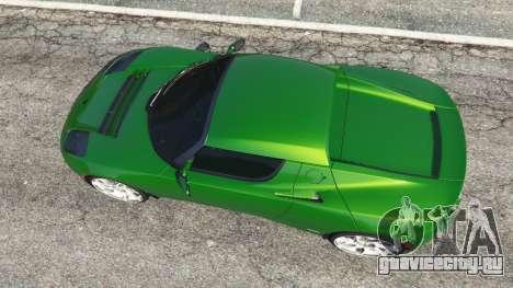 Tesla Roadster Sport 2011 для GTA 5 вид сзади