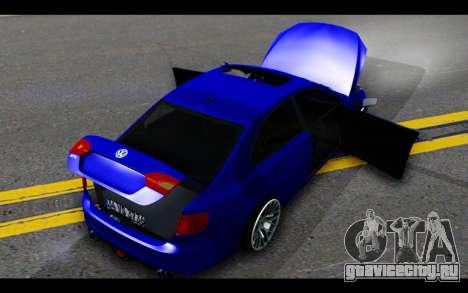 Volkswagen Jetta для GTA San Andreas вид снизу