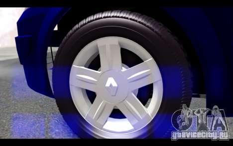 Renault Megane Sedan для GTA San Andreas вид сзади слева