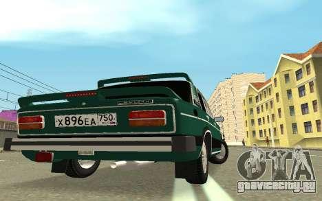 ВАЗ 2103 Спорт-тюнинг для GTA San Andreas вид сзади слева