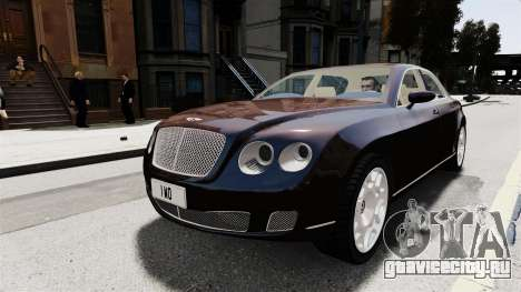 Bentley Continental 2010 Flying Spur Beta для GTA 4 вид сзади