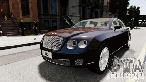 Bentley Continental 2010 Flying Spur Beta для GTA 4 вид сзади