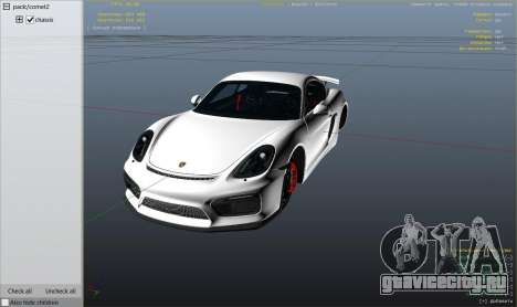 2016 Porsche Cayman GT4 v1.0 для GTA 5 вид справа