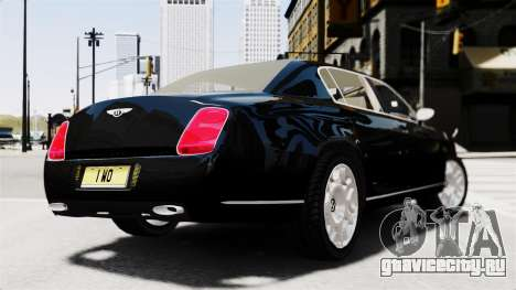 Bentley Continental 2010 Flying Spur Beta для GTA 4 вид слева