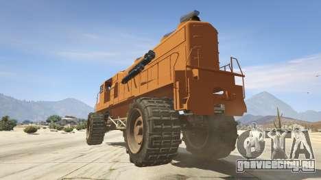 Monster Train для GTA 5 вид сзади слева