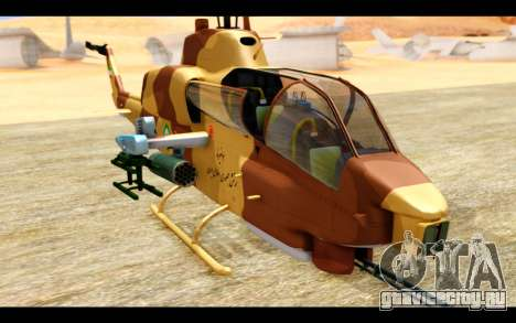 AH-1W IRIAF SuperCobra для GTA San Andreas вид сзади
