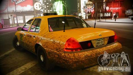 Ford Crown Victoria L.C.C Taxi для GTA 4 вид сзади слева