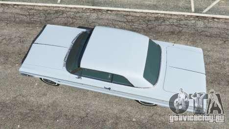 Chevrolet Impala SS 1964 v2.0 для GTA 5 вид сзади
