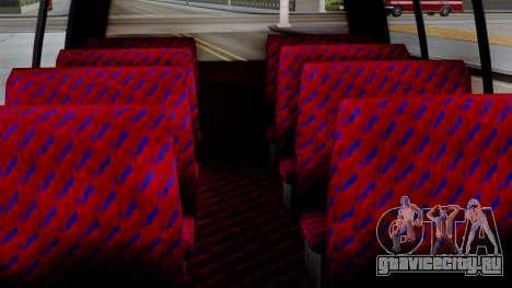 GTA 5 Rental Shuttle Bus Escalera Livery для GTA San Andreas вид справа