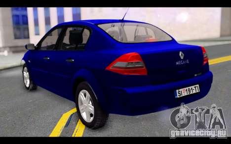 Renault Megane Sedan для GTA San Andreas вид слева