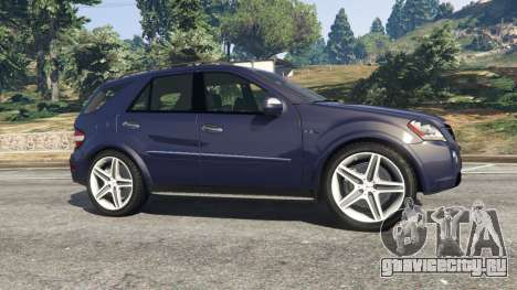 Mercedes-Benz ML63 (W164) 2009 для GTA 5 вид слева