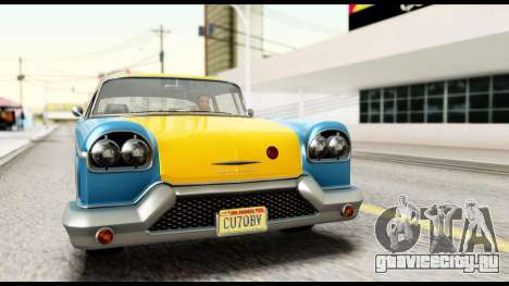 GTA 5 Declasse Cabbie v2 IVF для GTA San Andreas вид справа