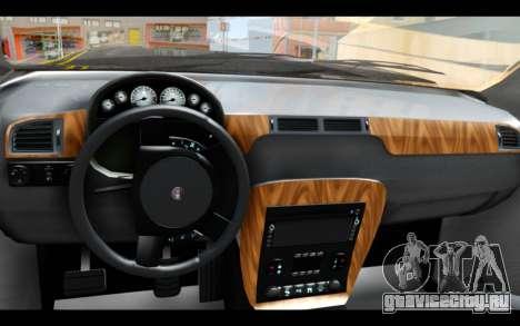 GTA 5 Declasse Granger FIB IVF для GTA San Andreas вид сзади слева