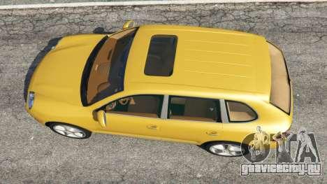 Porsche Cayenne Turbo 2003 для GTA 5 вид сзади