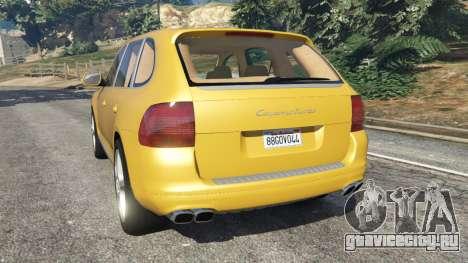 Porsche Cayenne Turbo 2003 для GTA 5 вид сзади слева