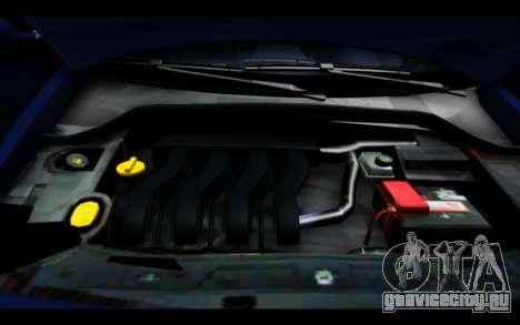 Renault Megane Sedan для GTA San Andreas вид сверху