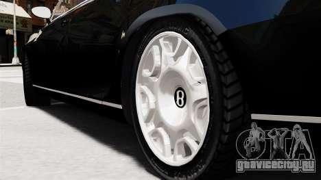 Bentley Continental 2010 Flying Spur Beta для GTA 4 вид сзади слева