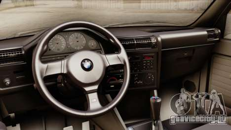 BMW M3 E30 1991 Stock для GTA San Andreas вид справа