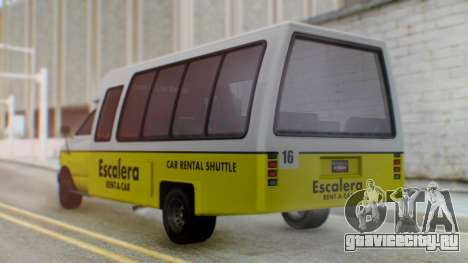 GTA 5 Rental Shuttle Bus Escalera Livery для GTA San Andreas вид слева