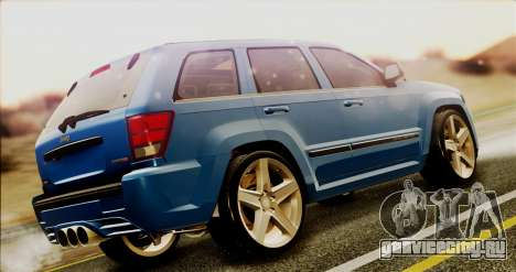 Jeep Grand Cherokee SRT8 Final version для GTA San Andreas вид сзади слева