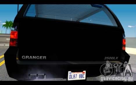 GTA 5 Declasse Granger FIB IVF для GTA San Andreas вид справа