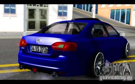 Volkswagen Jetta для GTA San Andreas вид слева