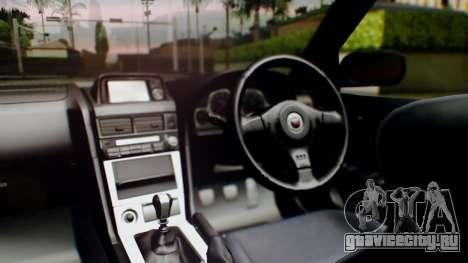 Nissan Skyline R34 Stance Nico Yazawa Itasha для GTA San Andreas вид сзади
