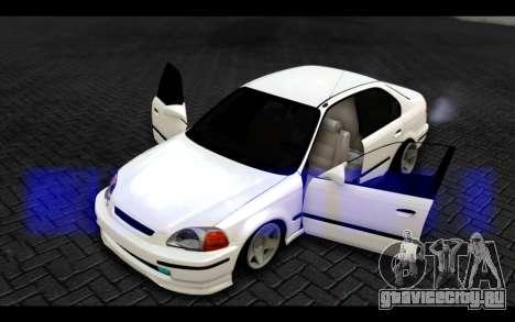 Honda Civic 1.6 для GTA San Andreas вид сбоку