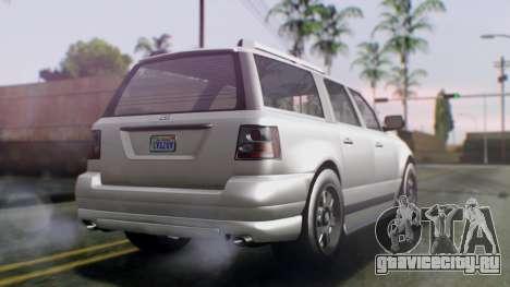 GTA 5 Dundreary Landstalker IVF для GTA San Andreas вид слева