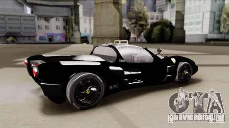 Ferrari P7-2 Shadow для GTA San Andreas вид сзади слева