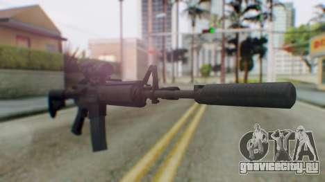 Arma Armed Assault M4A1 Aimpoint Silenced для GTA San Andreas