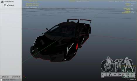 2013 Lamborghini Veneno HQ EDITION для GTA 5 вид справа
